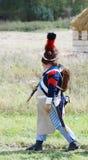 葡萄酒一致走的一位战士 免版税库存图片