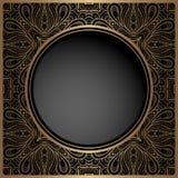 葡萄酒与圆的孔的金背景 免版税库存照片
