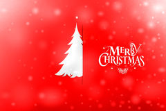 葡萄酒与真实的纸圣诞树的圣诞节明信片 免版税库存照片