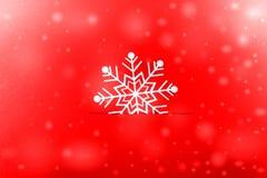 葡萄酒与真实的纸雪花的圣诞节明信片 免版税库存照片