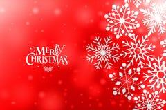 葡萄酒与真实的纸雪花的圣诞节明信片 免版税库存图片
