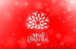 葡萄酒与真实的纸雪花的圣诞节明信片 库存图片