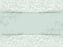 葡萄酒与花卉样式的邀请卡片 向量EPS-10 免版税库存照片