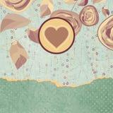 葡萄酒与花的样式背景。EPS 8 免版税库存照片