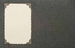 葡萄酒与角落的照片卡片 册页页 纸纹理 库存照片