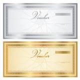 葡萄酒与边界的证件(优惠券)模板 图库摄影