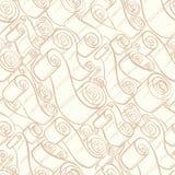 葡萄酒丝带和纸卷 墙纸无缝的模式 免版税库存照片