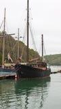 葡萄酒两桅的帆船 免版税图库摄影