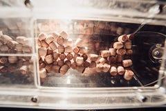 葡萄酒乐透纸牌小桶堆,数字,选择聚焦 免版税库存照片