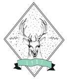 葡萄酒亲爱的商标 T恤杉的设计 免版税图库摄影