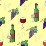 葡萄酒传染媒介无缝的样式 免版税库存照片