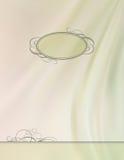 葡萄酒传染媒介框架丝绸波浪背景 免版税图库摄影