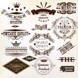葡萄酒传染媒介的汇集标记最佳和优质质量 免版税库存照片
