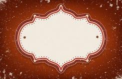 葡萄酒传染媒介马戏启发了与空间的框架文本的 免版税库存图片