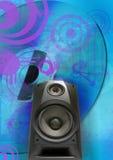 葡萄酒低音扬声器 免版税库存图片