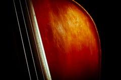 葡萄酒低音提琴 免版税库存照片