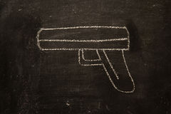 葡萄酒例证枪,暴力 免版税库存照片
