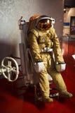 葡萄酒俄国人太空服 免版税库存图片