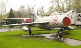 葡萄酒俄国战斗机飞机 免版税图库摄影