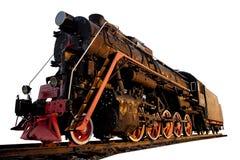 葡萄酒俄国苏联火车在Abdulino 免版税库存照片