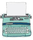 葡萄酒保加利亚手工打字机 库存照片