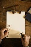 葡萄酒信件和通信概念 复制空间重写您的文本 库存图片