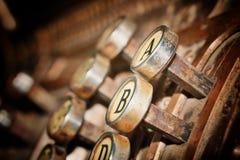 葡萄酒信件 免版税库存图片