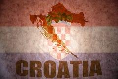 葡萄酒克罗地亚地图 免版税库存照片