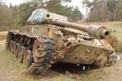葡萄酒军用设备-坦克 免版税图库摄影