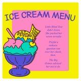 葡萄酒冰淇凌海报设计 图库摄影