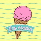 葡萄酒冰淇凌海报设计 免版税库存图片