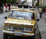 葡萄酒减速火箭的汽车在尼加拉瓜 库存图片