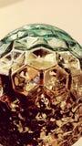 葡萄酒几何玻璃地球 免版税库存照片