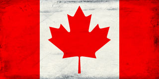 葡萄酒加拿大旗子背景 免版税库存照片