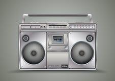 葡萄酒卡型盒式录音机的录音机 音乐 免版税库存图片