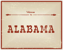葡萄酒卡片欢迎向阿拉巴马 向量例证