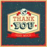 葡萄酒卡片-谢谢。 免版税库存照片
