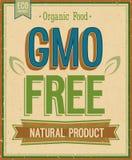 葡萄酒卡片- GMO释放。 免版税库存图片