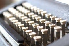 葡萄酒卡箍标记制造商的键盘 图库摄影
