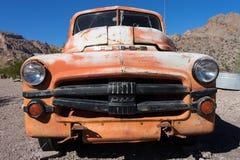 葡萄酒卡车在内华达的沙漠 图库摄影