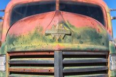 葡萄酒卡车极端特写镜头 库存图片