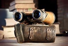 葡萄酒双筒望远镜 库存图片
