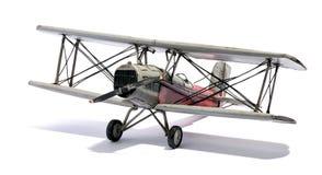 葡萄酒双翼飞机的模型 免版税库存图片