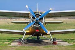 葡萄酒双翼飞机 库存图片