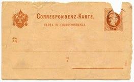 葡萄酒明信片-大约1881年 免版税库存照片