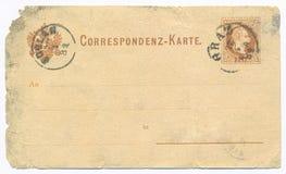 葡萄酒明信片-大约1881年 免版税图库摄影