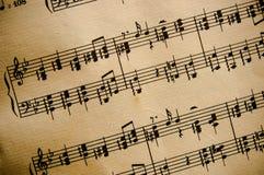 葡萄酒古典音乐评分 免版税图库摄影