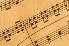 葡萄酒古典音乐评分 免版税库存照片