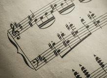 葡萄酒古典音乐评分 免版税库存图片