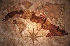 葡萄酒古巴地图 库存照片